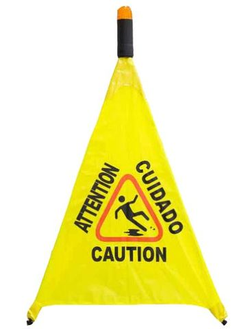 Wet Floor Sign Fold Out With Flashing Light