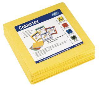 Colourtex Textile Wipes - Yellow - 10 Pa