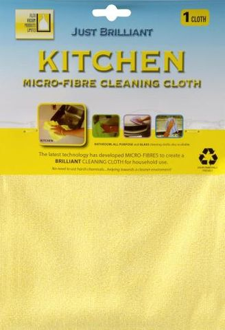 Microfibre Cloth Yellow Kitchen Use