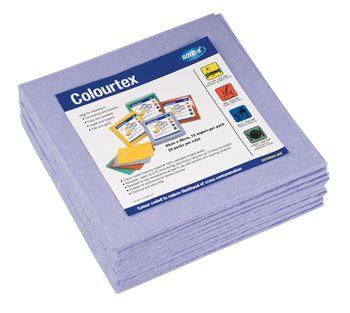 Colourtex Textile Wipes - Blue - 10 Pack
