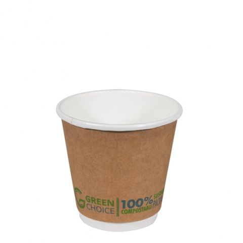 Green Choice Double Wall Cup 8oz 25 per sleeve