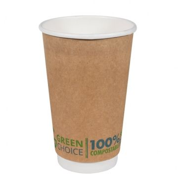 Green Choice Double Wall Cup 16oz 25 per sleeve