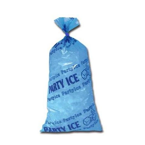 Party Ice Bags - Blue - Printed 50 per sleeve
