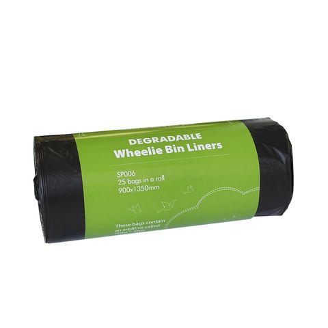 Degradable 120L Wheelie Bin Liners 25 per roll