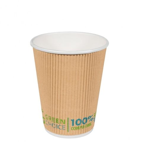 Green Choice Ripple Wall Cup 12oz 25 per sleeve