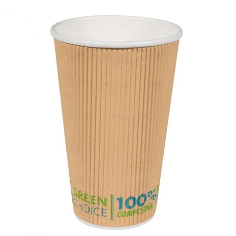 Green Choice Ripple Wall Cup 16oz 25 per sleeve
