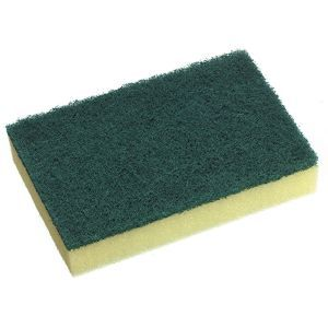 Sponge Scourer Green / Yellow