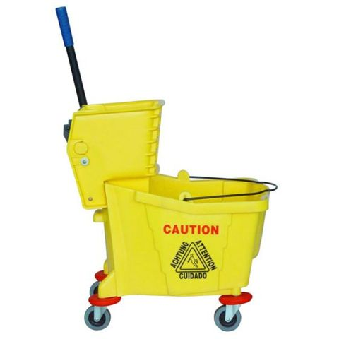 NZ Janitor Yellow Press Bucket
