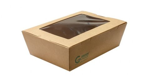 Green Choice Take Away Box With Window Large 50 per sleeve