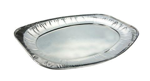 Uni - Foil Oval Foil Platter / Tray 547x360x30