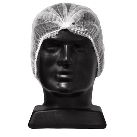 Hat Crimp Disposable White 53cm
