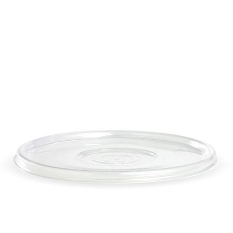 Biopak Lid Flat Clear for 24-40oz Biocane Bowls