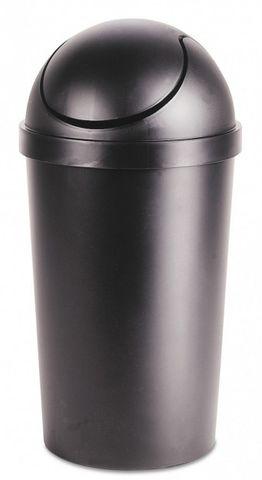 Black 40L Round Sterilite Swing Top Rubbish