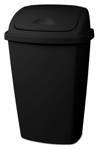 Black 28L Sterilite Swing Top Square Rubbish Bin