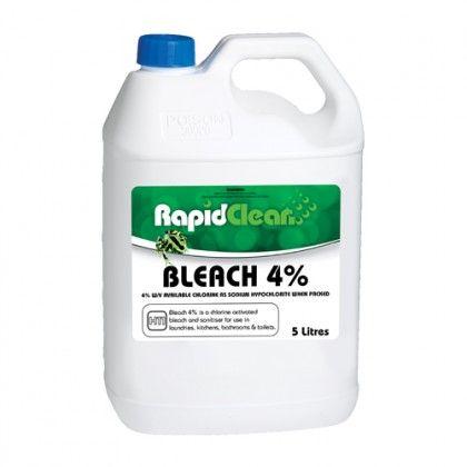 Liquid Bleach 4% 5 ltr  RapidClean