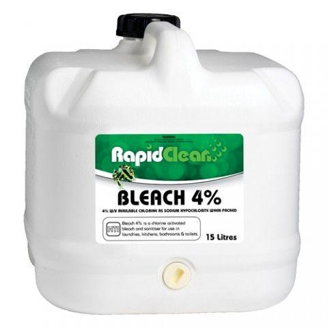 Liquid Bleach 4% 20 ltr  RapidClean