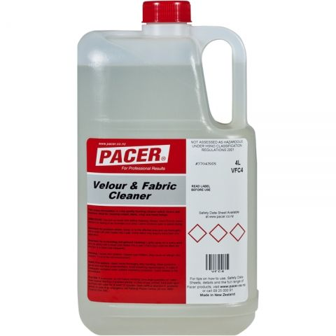 Velour & Fabric Cleaner Pacer 4 Ltr
