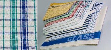 Dishcloth Dobby 35x35cm White/Blue stripe