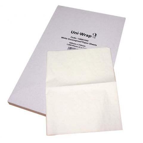 Grease Proof Sheets 750mmx480 500sheet
