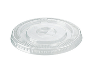 HiKlleer P.E.T Cold Cup Lid Flat with straw slot 14oz,16oz, &20oz