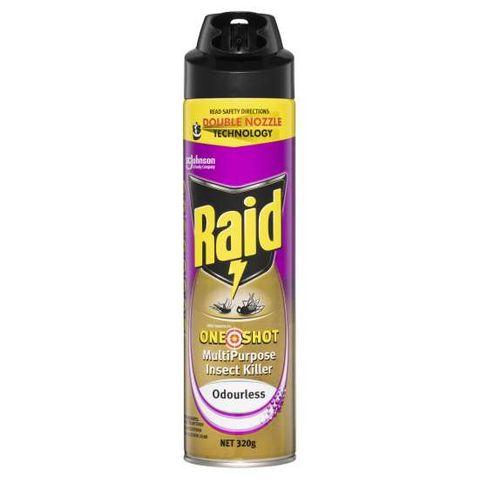 Raid One Shot Multi Purpose Insect Killer Double Nozzle 320g