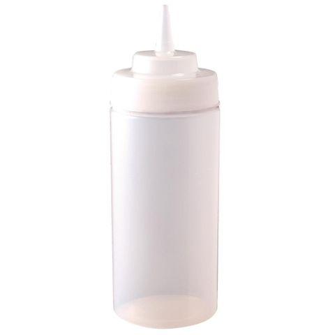 Vogue Clear Wide Neck Squeeze Sauce Bottle 909ml
