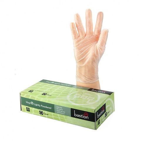 Bastion Vinyl LP Clear Gloves Med Pkt100