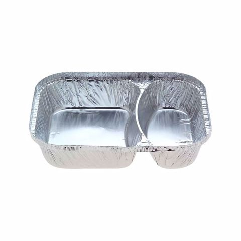 Confoil Foil 2 Compartment Meal Tray
