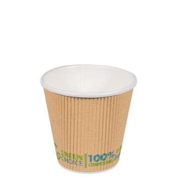 Green Choice Ripple Wall Cup 8oz 25 per sleeve
