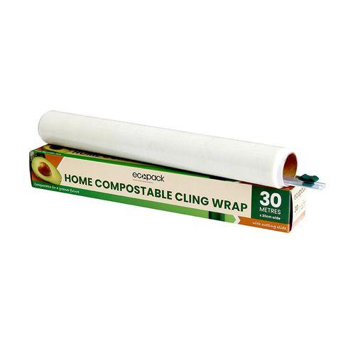 Ecopack Comercial Compostable Cling Wrap 300m X 45cm