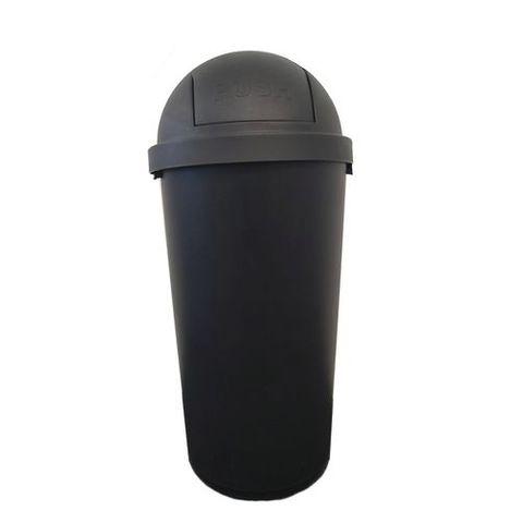 Black 45L Bullet  Rubbish Bin