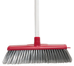 Classic Plus Ultimate Indoor Broom - Red