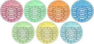 Wave Urinal Screen Citrus - Yellow