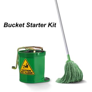 Starter Kit - Bucket / Handle / Mop (Green)
