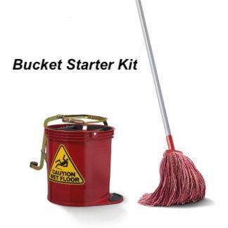 Starter Kit - Bucket / Handle / Mop (Red)
