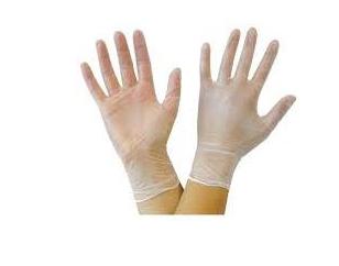 1209D Vitals Clear Vinyl  Gloves L Size 10 Boxes