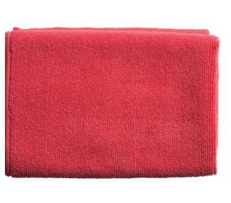 MICROFIBRE CLOTHS 40X40CM-RED