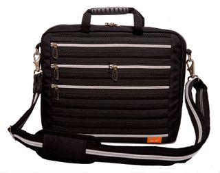 Zip It Laptop Bag Black/Silver