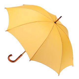 Yellow; wood shaft & handle