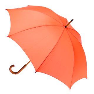 Orange; wood shaft & handle