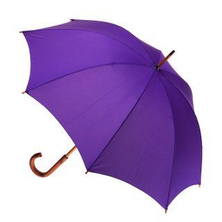 Purple; wood shaft & handle