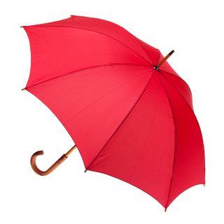 Red; wood shaft & handle