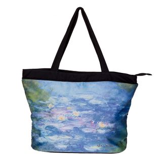 Monet Water Lilies; Tote Bag