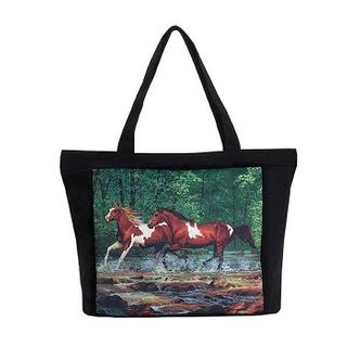 Spring Creek Run; Tote Bag