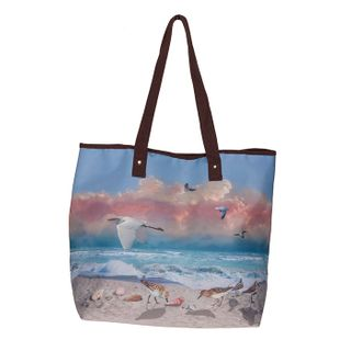 Beach Scene; Tote Bag