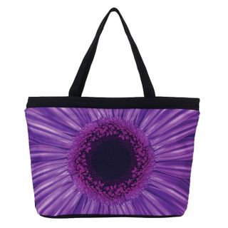 Purple Daisy; Tote Bag
