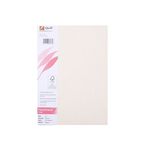 QUILL P/MENT PAPER NATURAL PK100