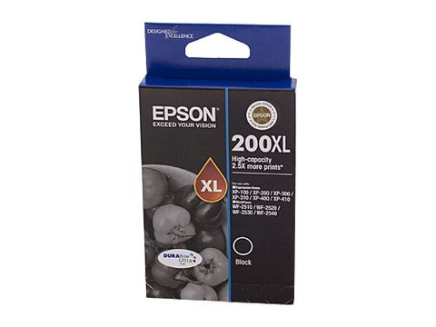 DYN-C13T201192 EPSON 200 HY BLACK INK CARTRIDGE - 500 PAGES - CQS1