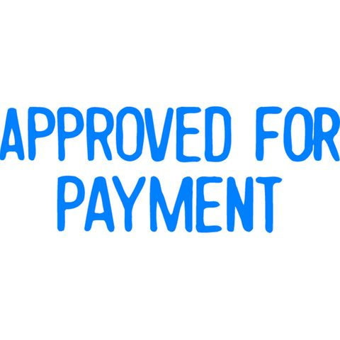 1025 APPROVED FOR PAYMENT BLUE XSTAMPER-cqs9 - 4974052902598