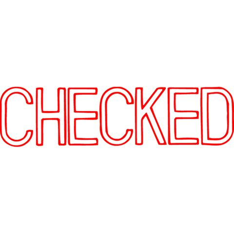 1038 CHECKED RED XSTAMPER-cqs9 - 4974052902864